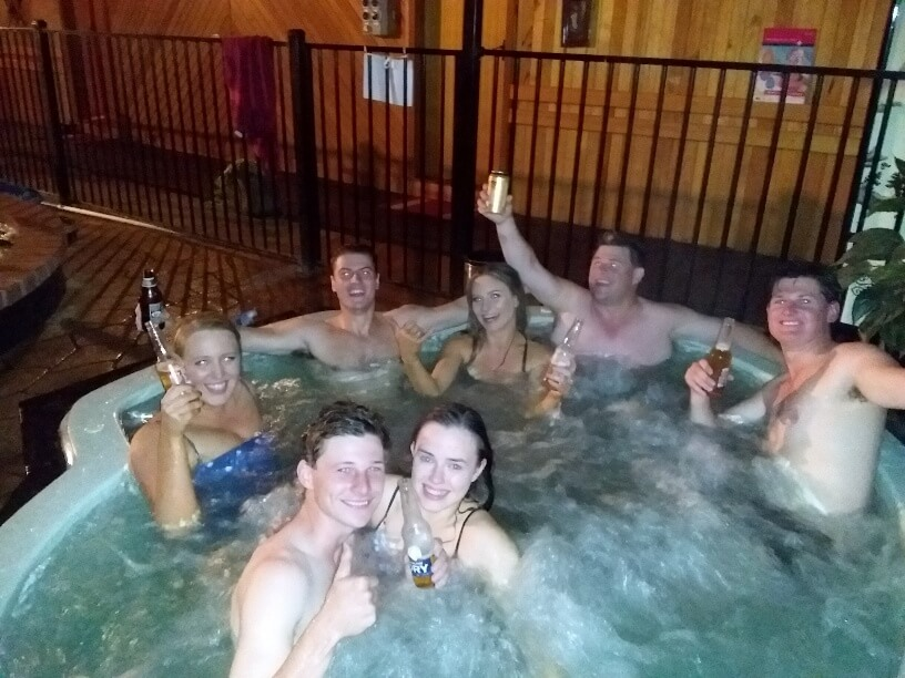 Happy nights in the spa
